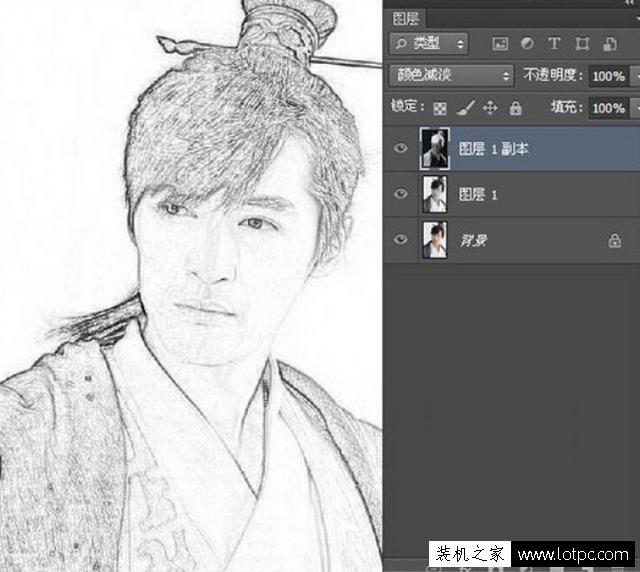 利用PS软件将人物图片转成铅笔画,photoshop铅笔画制作教程 Photoshop 第9张