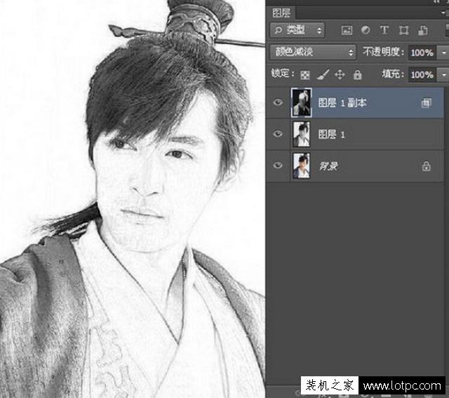 利用PS软件将人物图片转成铅笔画,photoshop铅笔画制作教程 Photoshop 第11张